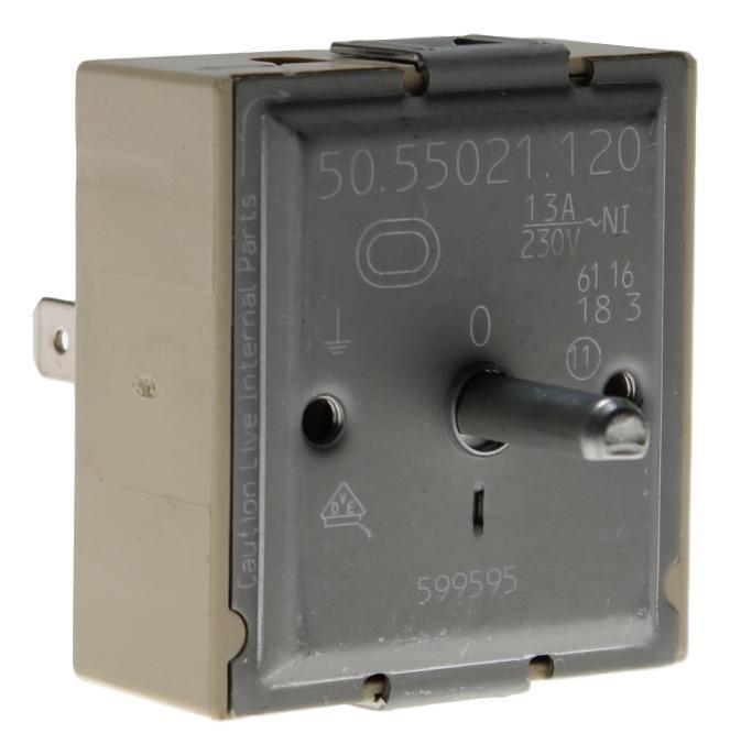 50.55021.120 Energieregler 13 Ampere 230 Volt Zweikreis mit Achse 18mm